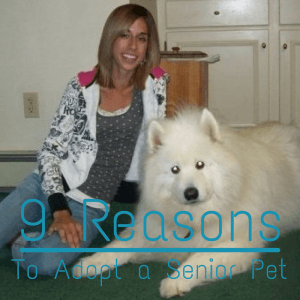 Rascal (our family's Samoyed) and I when he was 11. Doesn't look a day over 3 ;)