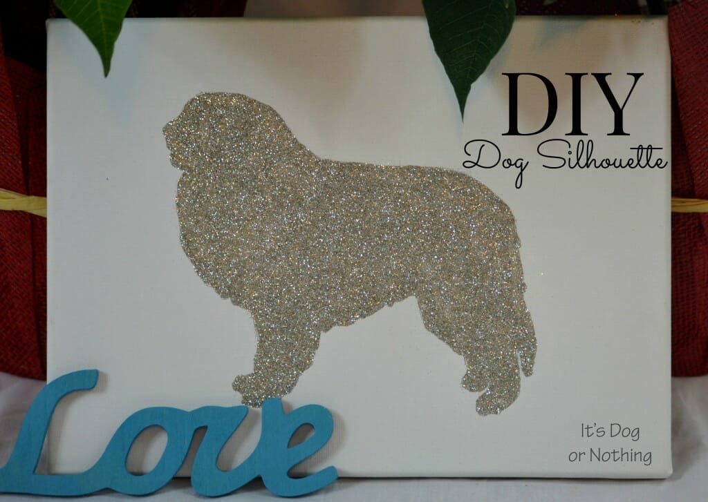 DIY Dog Silhouette Decoration Great Pyrenees