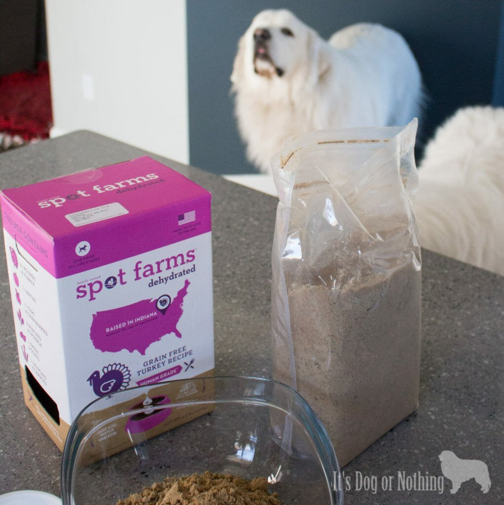 I always try and keep things interesting for the fluffies and they've been LOVING this dehydrated food from Spot Farms. I use it as a topper for my Great Pyrenees, but it is also great as a complete, balanced meal!