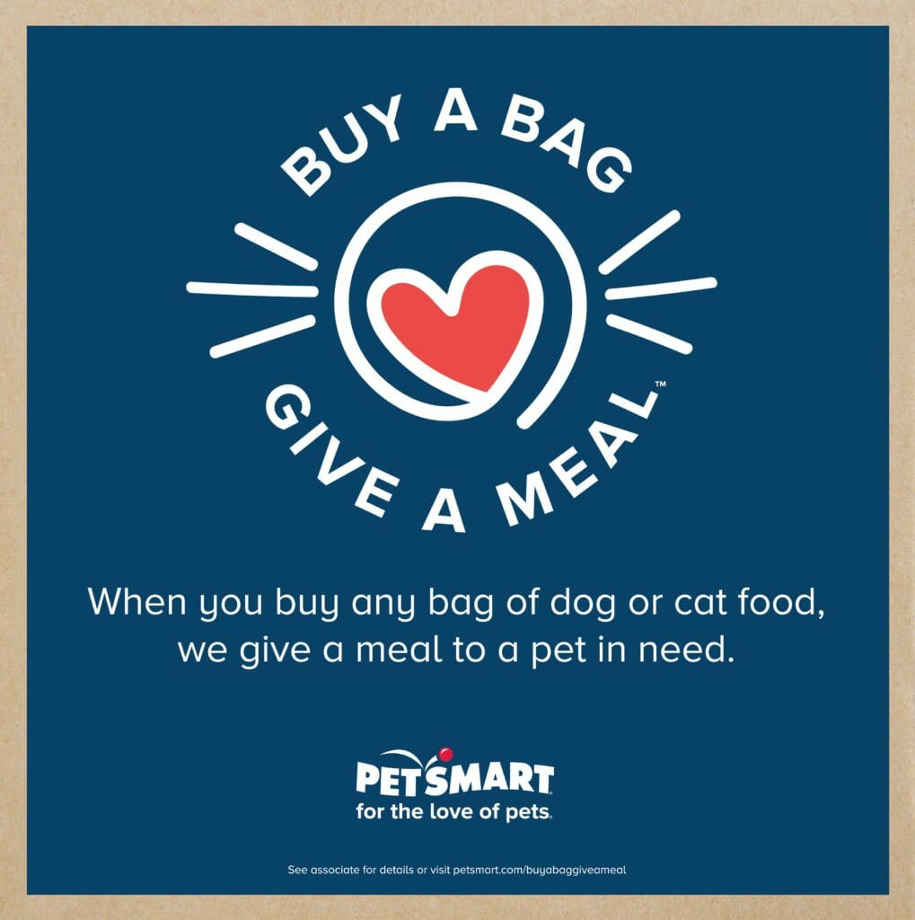 Have you heard about PetSmart's biggest philanthropic event, Buy a Bag, Give a Meal. Check out this easy way to help feed pets in need!