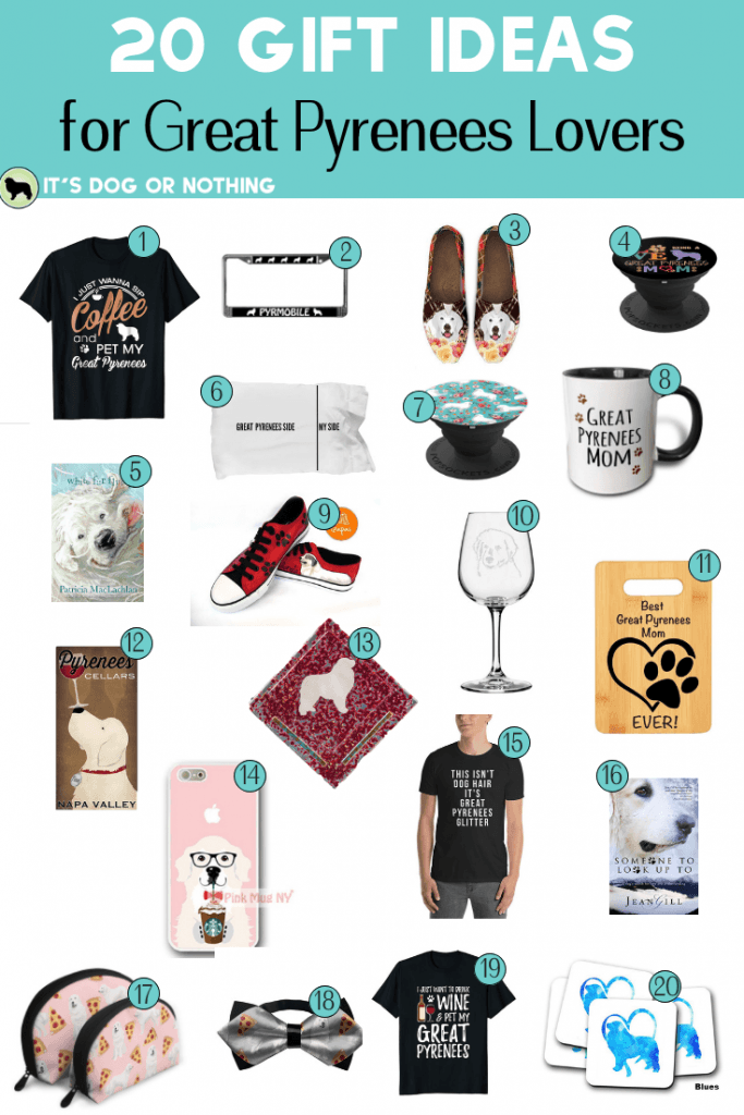 Do you need a gift for the Great Pyrenees lover in your life? Here are 20 gift ideas to please any pyr lover!