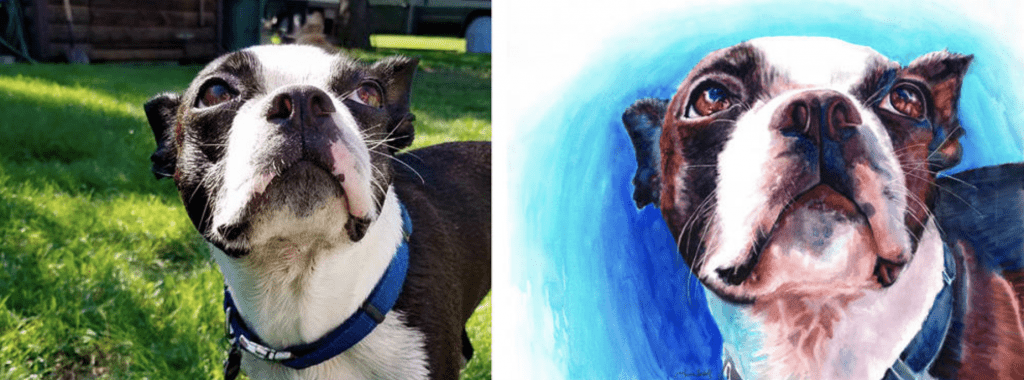 Enter to win a beautiful watercolor painting of your pet from Aquila Watercolor on It's Dog or Nothing!