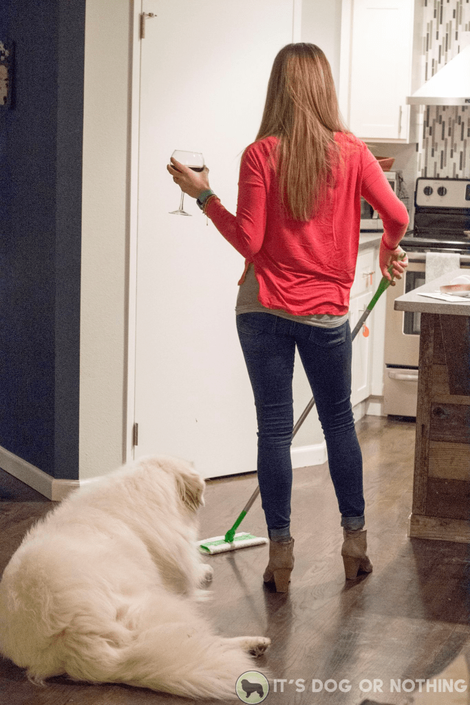 Our cleaning routine with three Great Pyrenees